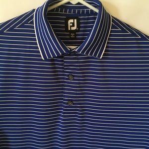 FootJoy Blue & White Striped Polo